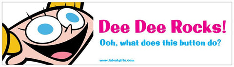 """Dee Dee Rocks"" - Bumper Sticker Default Title - LabRatGifts"