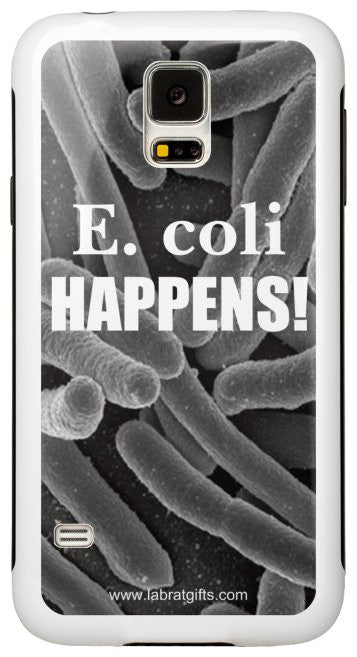 """E. coli Happens"" - Protective Samsung Galaxy S5 Case Default Title - LabRatGifts - 2"