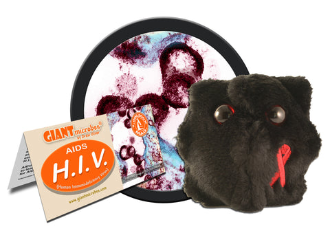 H.I.V. (Human Immunodeficiency Virus) - GIANTmicrobes® Plush Toy Default Title - LabRatGifts - 1