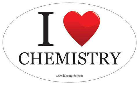 """I ♥ Chemistry"" - Oval Sticker Default Title - LabRatGifts"