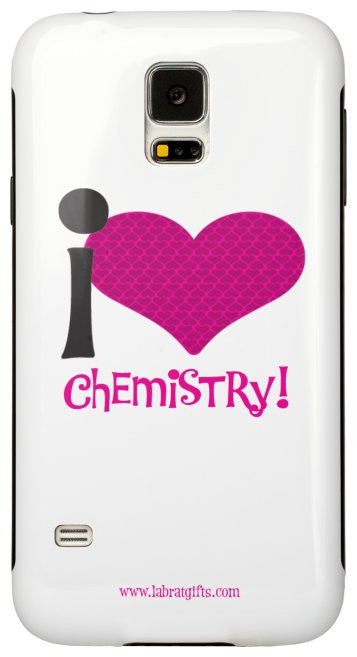 """I ♥ Chemistry"" - Protective Samsung Galaxy S5 Case (pink) Default Title - LabRatGifts - 2"
