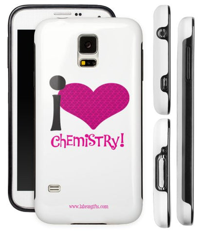 """I ♥ Chemistry"" - Protective Samsung Galaxy S5 Case (pink)  - LabRatGifts - 1"