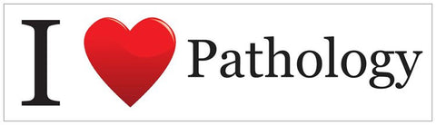 """I ♥ Pathology"" - Bumper Sticker Default Title - LabRatGifts"