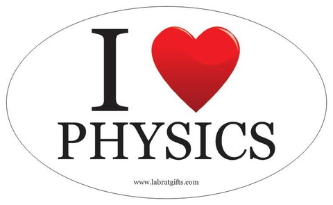 """I ♥ Physics"" - Oval Sticker Default Title - LabRatGifts"