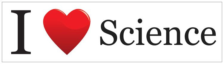 """I ♥ Science"" - Bumper Sticker Default Title - LabRatGifts"
