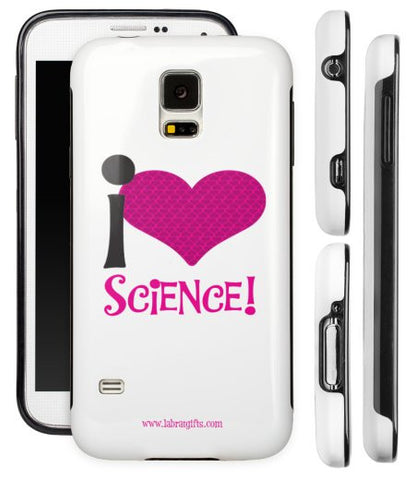 """I ♥ Science"" - Protective Samsung Galaxy S5 Case (pink)  - LabRatGifts - 1"