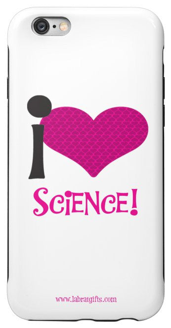 """I ♥ Science"" (pink) - Protective iPhone 6/6s Case Default Title - LabRatGifts - 2"