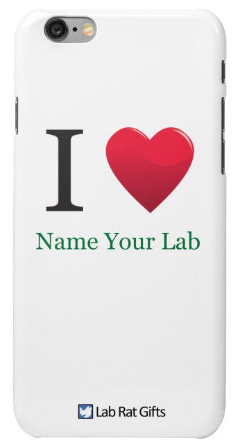 """I ♥ (Name Your Lab)"" - Custom iPhone 6/6s Case Default Title - LabRatGifts - 2"