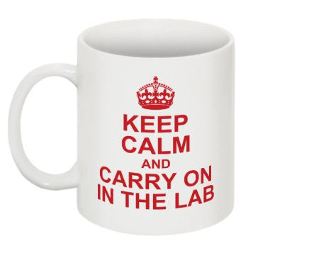 """Keep Calm and Carry On in the Lab"" - Mug Default Title - LabRatGifts - 1"