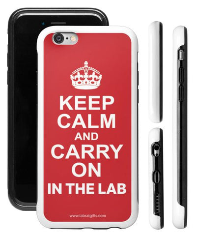 """Keep Calm and Carry On in the Lab"" - Protective iPhone 6/6s Case  - LabRatGifts - 1"