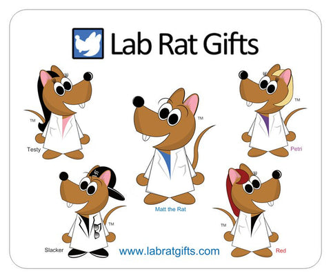 """The Lab Rat Pack"" - Mouse Pad Default Title - LabRatGifts"
