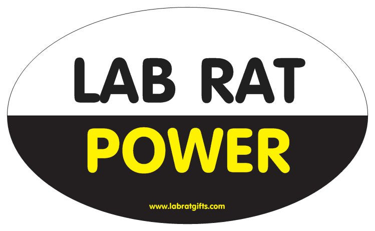 """Lab Rat Power"" - Oval Sticker Default Title - LabRatGifts"