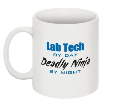 """Lab Tech By Day, Deadly Ninja By Night"" - Mug Default Title - LabRatGifts - 1"