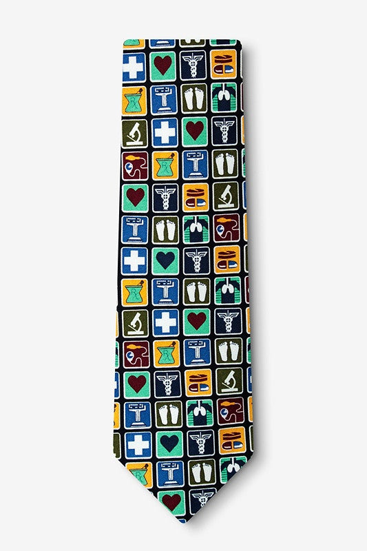 Medical Profession Extra Long Tie  - LabRatGifts - 1
