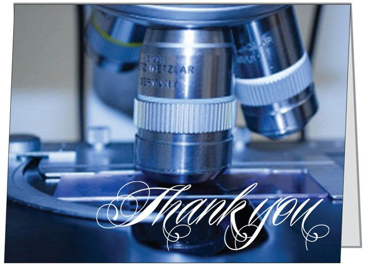 """Microscope"" - Thank You Card Default Title - LabRatGifts - 1"