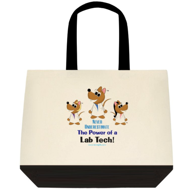 """Never Underestimate the Power of a Lab Tech"" - Tote Bag Default Title - LabRatGifts - 1"
