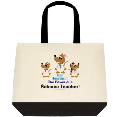 """Never Underestimate the Power of a Science Teacher"" - Tote Bag Default Title - LabRatGifts - 1"