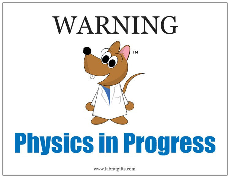 """WARNING Physics in Progress"" - Magnet Default Title - LabRatGifts"