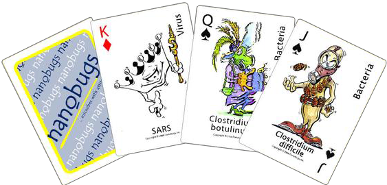 Nanobugs® Playing Cards  - LabRatGifts