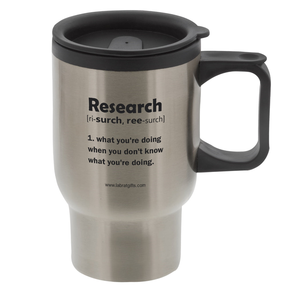"""Research"" - 16oz Travel Mug  - LabRatGifts"