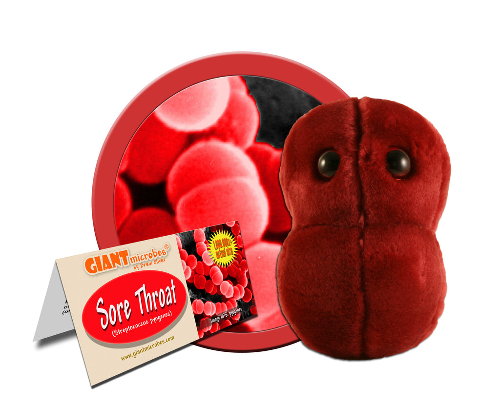 Sore Throat (Streptococcus pyogenes) - GIANTmicrobes® Plush Toy Default Title - LabRatGifts - 1