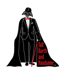 """Tall Darth and Handsome"" - Men's American Apparel Shirt  - LabRatGifts - 4"