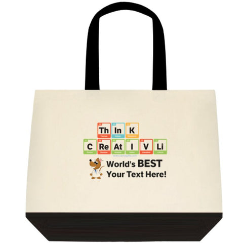 """ThInK CReAtIVLi - World's Best (Your Text Here)"" - Custom Tote Bag Default Title - LabRatGifts - 1"