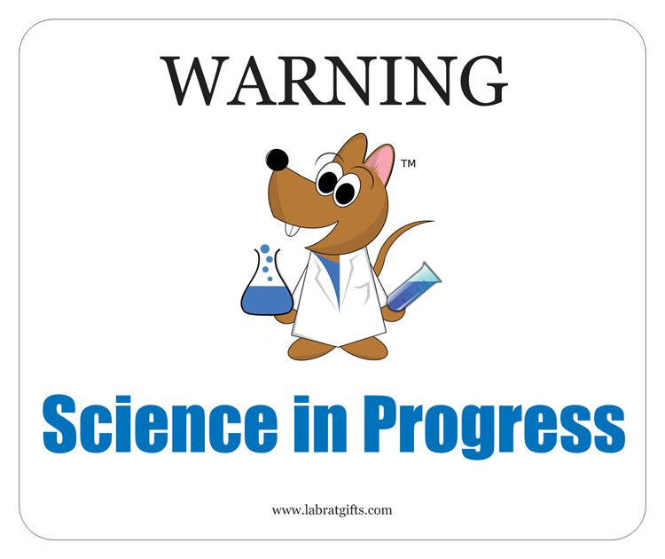 """Warning Science in Progress"" - Mouse Pad Default Title - LabRatGifts"