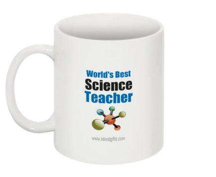 """World's Best Science Teacher"" - Mug  - LabRatGifts - 1"