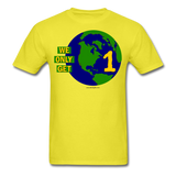 """We Only Get 1 Earth"" - Men's T-Shirt - yellow"