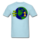 """We Only Get 1 Earth"" - Men's T-Shirt - powder blue"