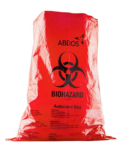 Abdos Biohazard Disposable bags, Polypropylene (PP) (12 x 18 IN) 200/CS