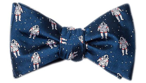 Floating Astronauts Bow Tie Blue - LabRatGifts - 1