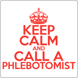 """Keep Calm and Call A Phlebotomist"" (red) - Men's T-Shirt  - LabRatGifts - 14"