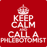 """Keep Calm and Call A Phlebotomist"" (white) - Men's T-Shirt  - LabRatGifts - 12"