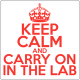 """Keep Calm and Carry On in the Lab"" (red) - Men's T-Shirt  - LabRatGifts - 14"