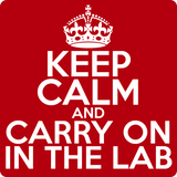 """Keep Calm and Carry On in the Lab"" (white) - Men's T-Shirt  - LabRatGifts - 12"