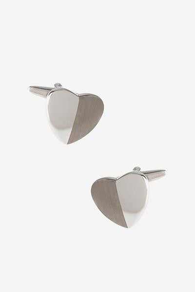 Monochrome Heart Cufflinks  - LabRatGifts