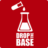 """Drop the Base"" (white) - Men's T-Shirt  - LabRatGifts - 10"