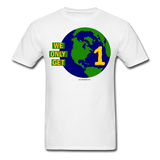 """We Only Get 1 Earth"" - Men's T-Shirt - white"
