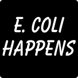 """E. Coli Happens"" (white) - Men's T-Shirt  - LabRatGifts - 11"