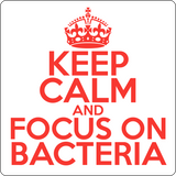 """Keep Calm and Focus On Bacteria"" (red) - Men's T-Shirt  - LabRatGifts - 14"