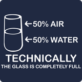 """Technically the Glass is Completely Full"" - Women's T-Shirt  - LabRatGifts - 13"