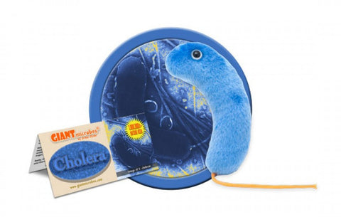Cholera (Vibrio cholerae) - GIANTmicrobes® Plush Toy  - LabRatGifts - 1