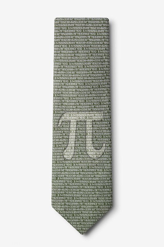 Pi To The 50th Decimal Tie  - LabRatGifts - 1
