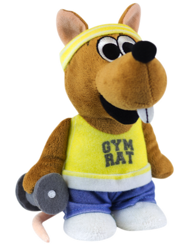 """Gym Rat"" - Plush Toy Gym Rat - LabRatGifts - 1"