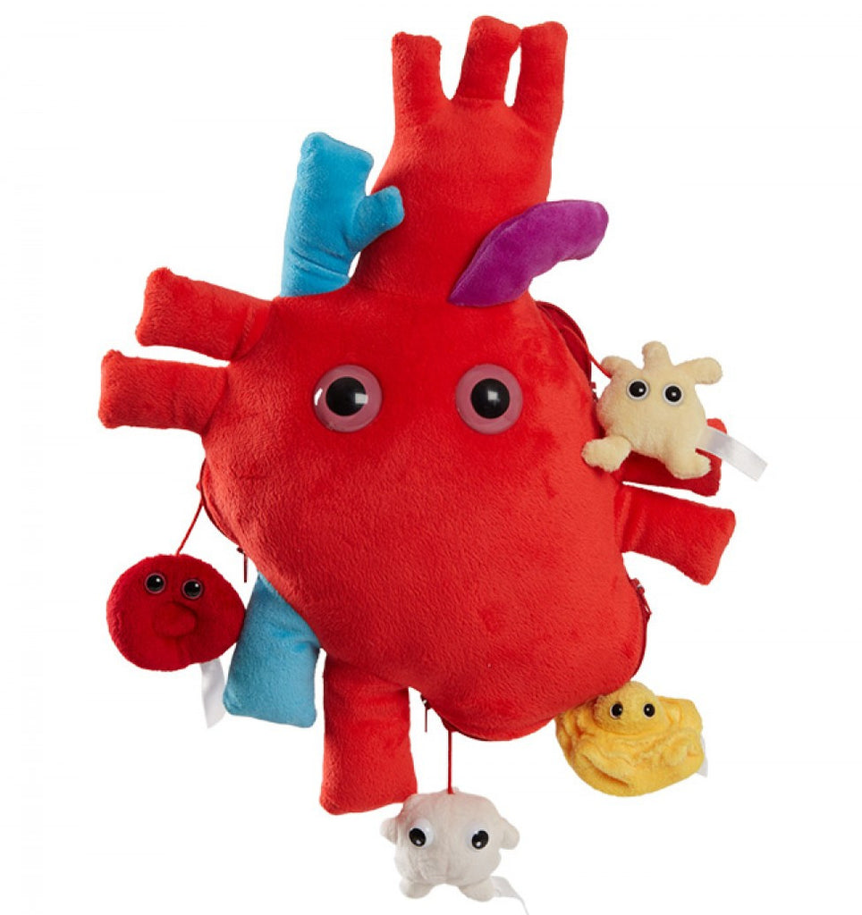 Heart (Heart Organ) XL Size with Minis - GIANTmicrobes® Plush Toy  - LabRatGifts - 1