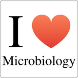 """I ♥ Microbiology"" (black) - Men's T-Shirt  - LabRatGifts - 12"