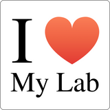 """I ♥ My Lab"" (black) - Men's T-Shirt  - LabRatGifts - 12"