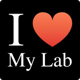 """I ♥ My Lab"" (white) - Women's T-Shirt  - LabRatGifts - 11"